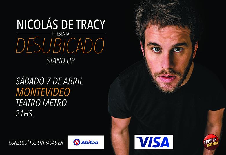 """Nicolás de Tracy presenta """"Desubicado"""" Standup"""