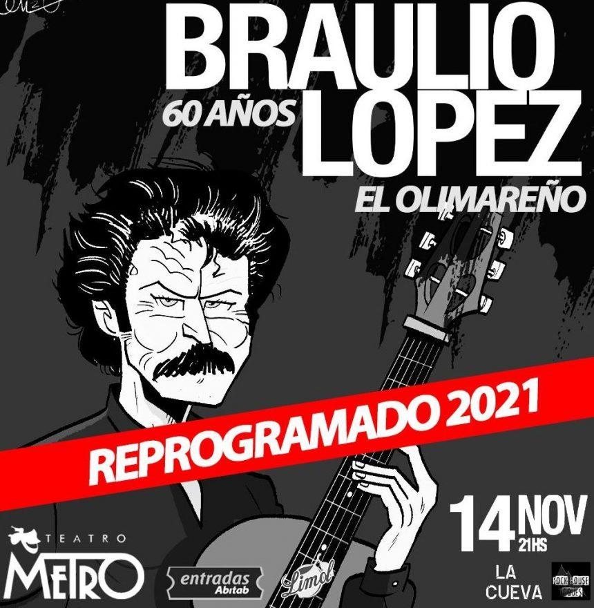 BRAULIO LOPEZ EL OLIMAREÑO 60 AÑOS 14 DE NOVIEMBRE 21:00 HORAS